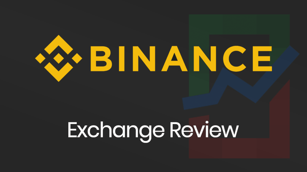 Binance Exchange Review banner with a dark background.