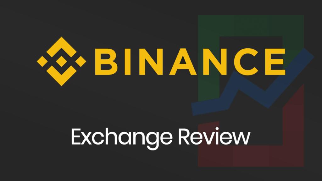 Binance Exchange Review banner with a dark background.