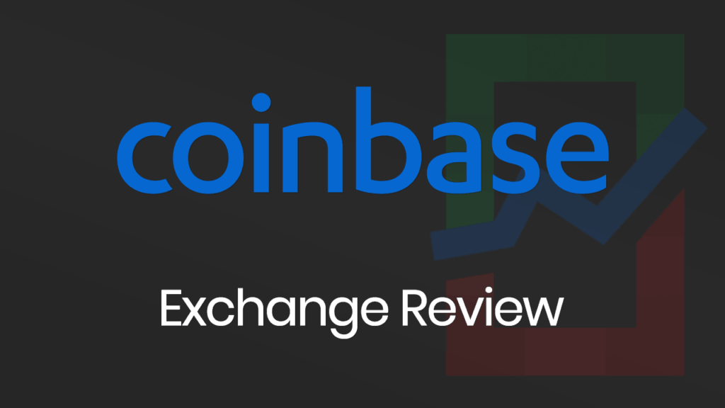 Coinbase Exchange Review banner with a dark background.