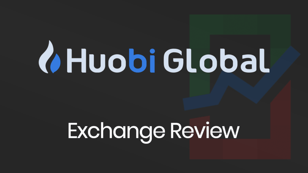 Huobi Global Exchange Review banner with a dark background.