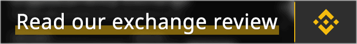 Binance banner with the text